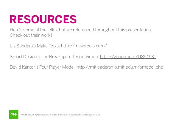 RESOURCES Here's some of the folks that we referenced throughout this presentation. Check out their work! Liz Sanders's Ma...