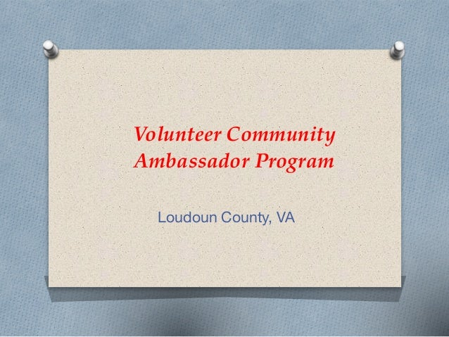 Volunteer Community Ambassador Program Loudoun County, VA