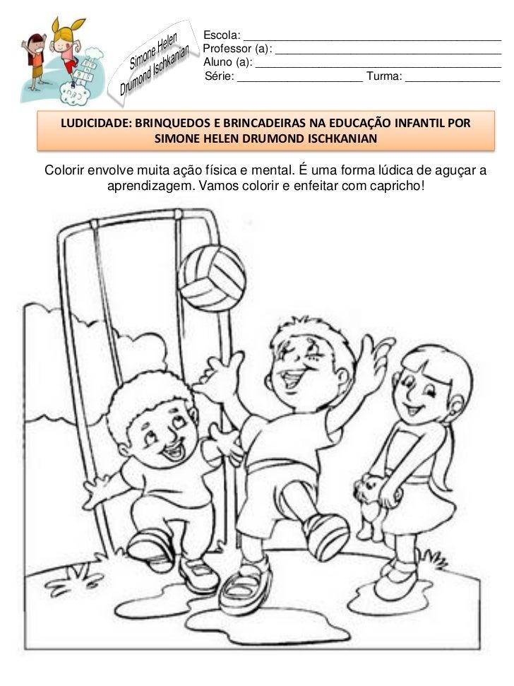 Suficiente Brinquedos e brincadeiras na educação infantil FA65