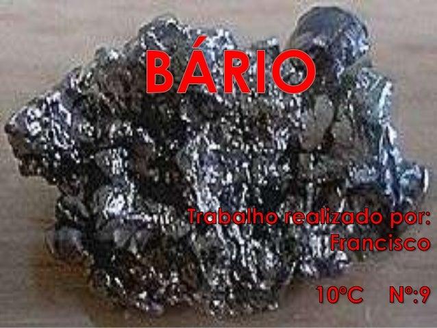    Eu escolhi este elemento químico, porque é    um elemento pouco falado.    Com esta apresentação fiquei a saber mais  ...