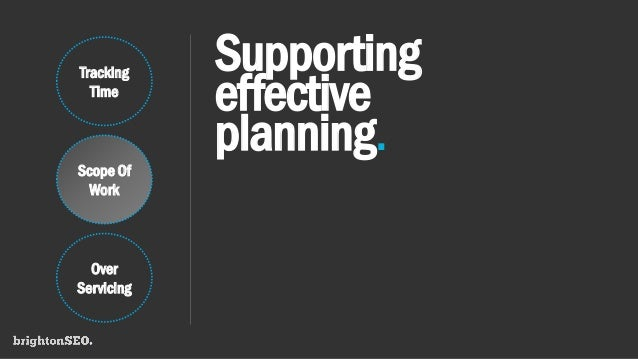 Supporting effective planning. Tracking Time Scope Of Work Over Servicing