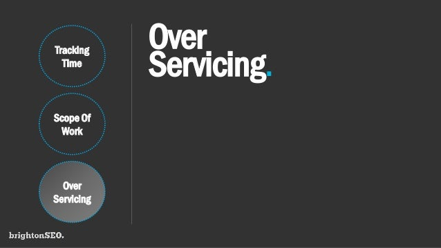 Over Servicing. Tracking Time Scope Of Work Over Servicing