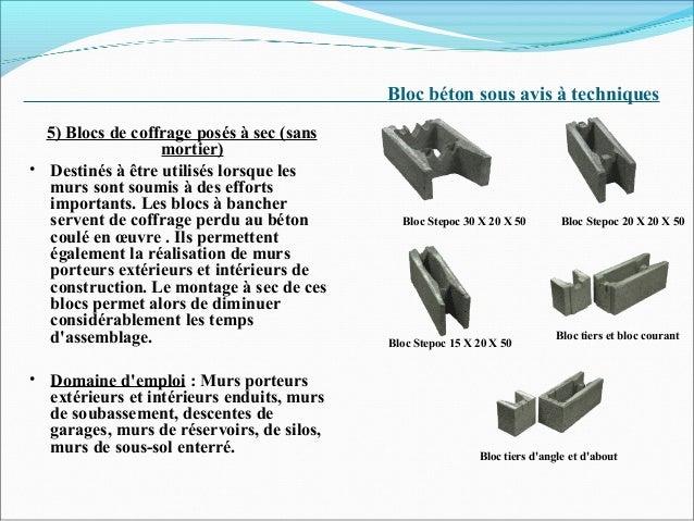 Brique 02 - Fiche technique bloc a bancher ...