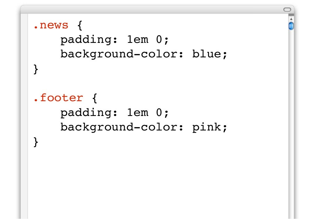 for Html div class