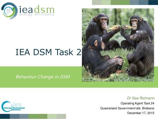 IEA DSM Task 24 Behaviour Change in DSM Dr Sea Rotmann Operating Agent Task 24 Queensland Government talk, Brisbane Decemb...
