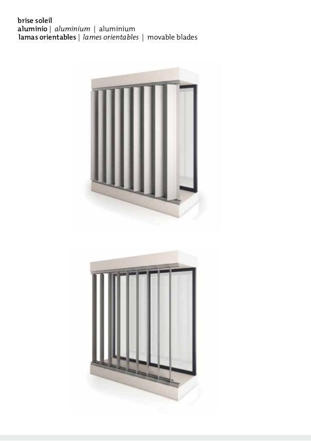 catalogo brise soleil quiebrasoles orientables aluminio. Black Bedroom Furniture Sets. Home Design Ideas