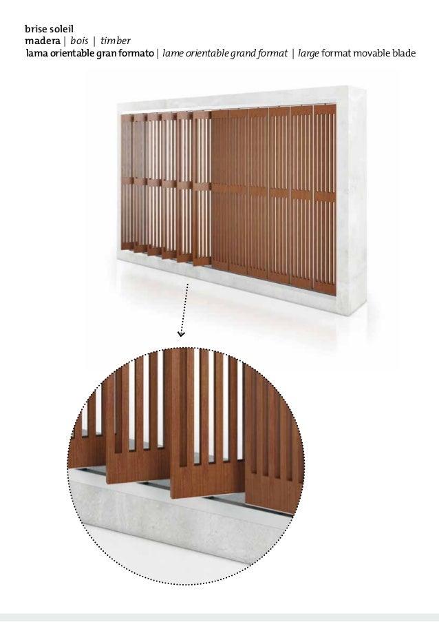 Catalogue de brise soleil lames orientables en bois tamiluz for Brise soleil bois exterieur
