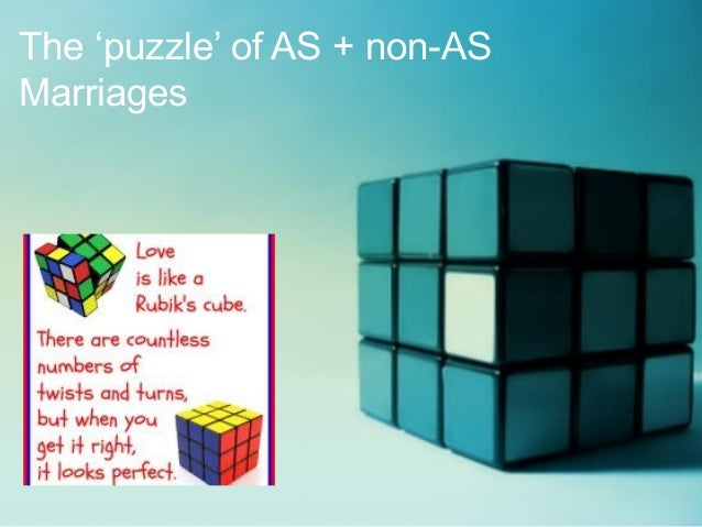 The 'puzzle' of AS + non-AS Marriages