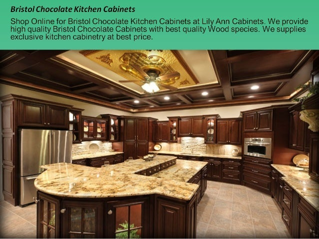 Bristol chocolate kitchen cabinets design ideas by lily ann cabinets