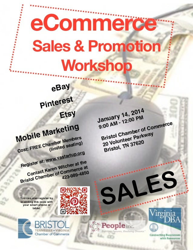 eCommerce Sales & Promotion Workshop  eBay rest  Pinte Etsy ting rke  ile Ma bers Mob r Mem ) be  am ting EE Ch limited se...