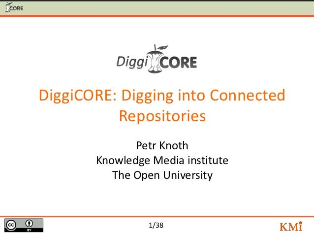 DiggiCORE: Digging into Connected          Repositories              Petr Knoth       Knowledge Media institute          T...