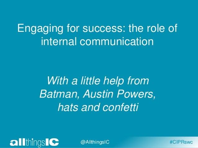 Internal communication and employee engagement by Rachel Miller Slide 2