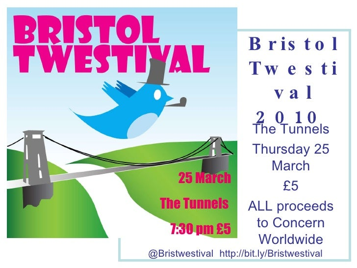 JOIN US!   Bristwestival @ The Tunnels Thursday 25 March £5 ALL proceeds to Concern Worldwide @Bristwestival   http://bit....