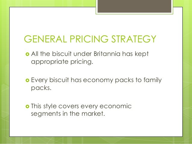 Biscuits pricing strategy