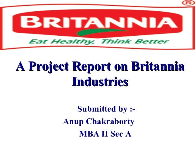 A project report on britannia industries