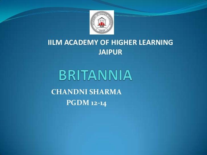 IILM ACADEMY OF HIGHER LEARNING            JAIPURCHANDNI SHARMA   PGDM 12-14
