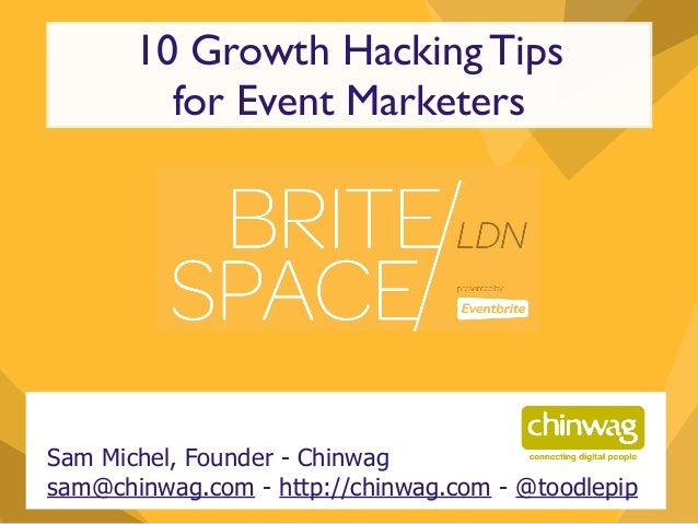 10 Growth Hacking Tips for Event Marketing