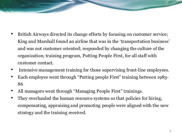 four hr strategies that implemented by british airways At the same timenamely the people processes strategy and a strategy that is focused on technological advancements being the united kingdom's leader in airline operationsthe main aim of this report was for the purpose of producing s strategic plan using theories of strategic management for british airways that can be implemented over the .