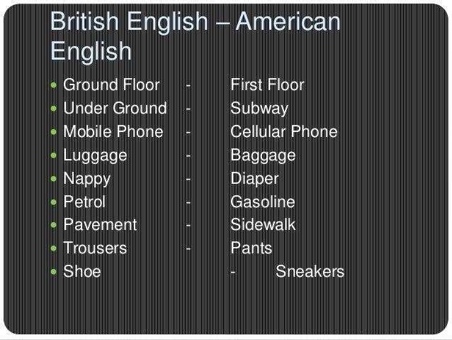 10 STD British English & American English