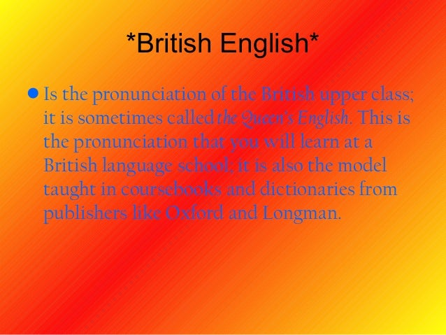 british and american english pronunciation ppt javier