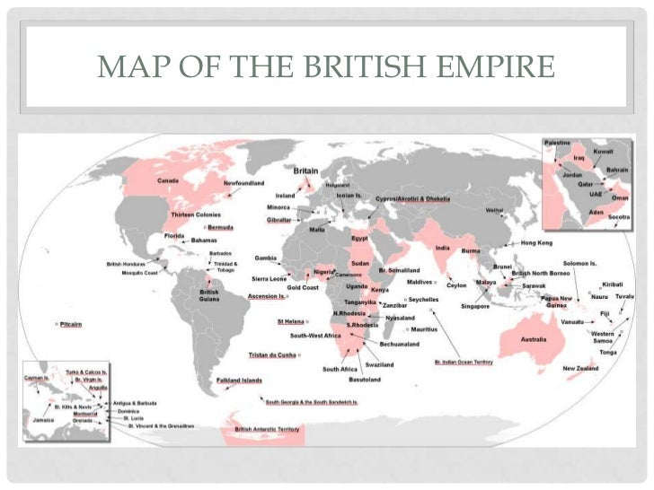 British colonies from 1800 to present