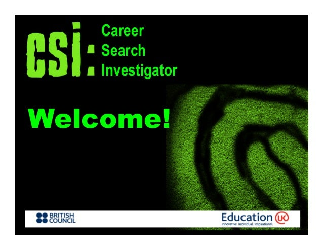 Welcome!CareerSearchInvestigator