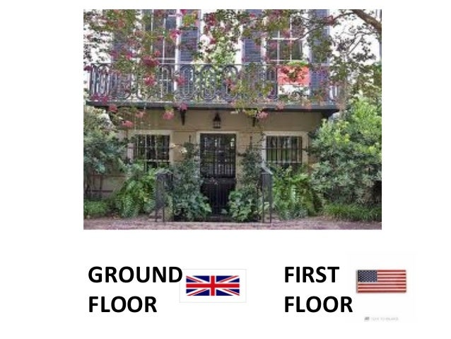 British english vs american english for Ground floor vs first floor