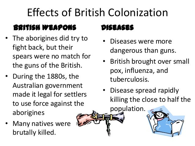 effects of colonialism to canadian aboriginals The effect of british colonisation on aboriginal people between 1788 and 1900, the aboriginal population was reduced by 90% three main reasons for this were the introduction of new diseases, loss of land and loss of people through direct fighting with the colonisers.