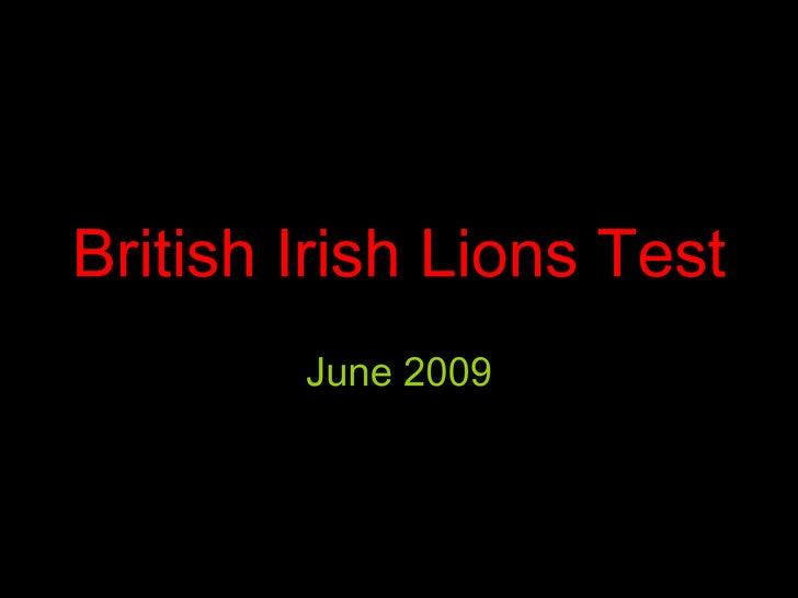British Irish Lions Test June 2009