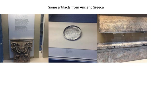 Some artifacts from Ancient Greece