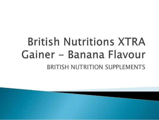 BRITISH NUTRITION SUPPLEMENTS