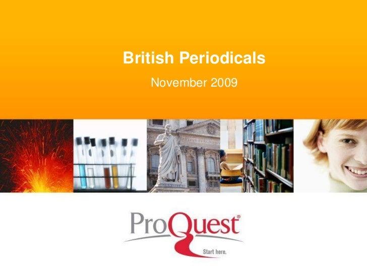 British Periodicals   November 2009
