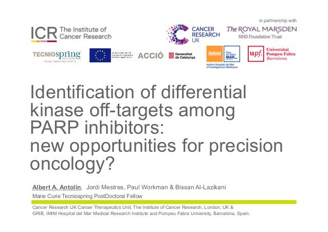 in partnership with Identification of differential kinase off-targets among PARP inhibitors: new opportunities for precisi...