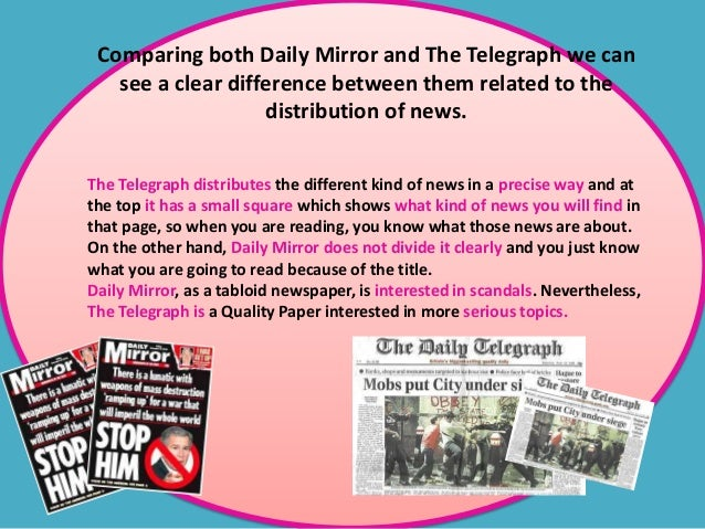 Comparing both Daily Mirror and The Telegraph we can see a clear difference between them related to the distribution of ne...