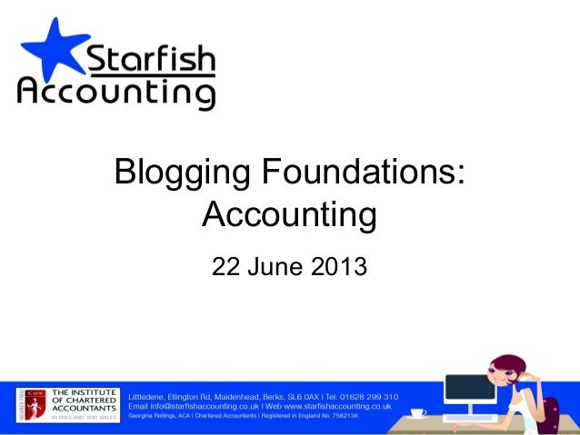 Blogging Foundations: Accounting 22 June 2013