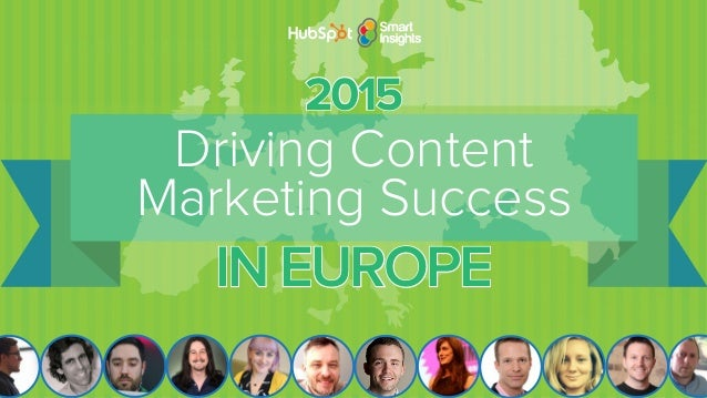Solved by the Leading European Industry Experts TOP CONTENT MARKETING CHALLENGES OF 2015 Driving Content Marketing Success...