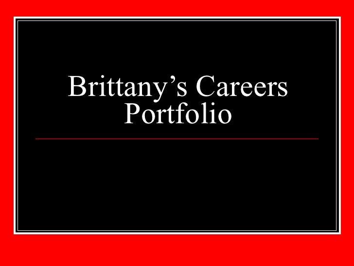 Brittany's Careers Portfolio