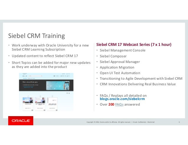 Achieving digital transformation with Siebel CRM and Oracle Cloud