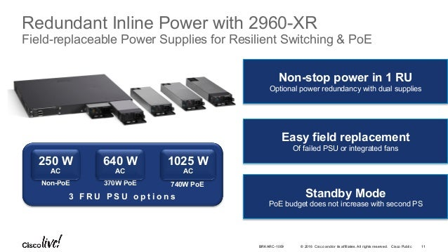 Cisco Catalyst 2960-X Series Switching Architecture