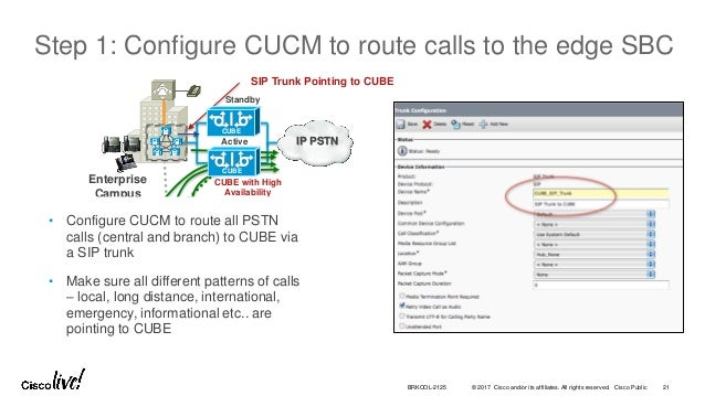 Cisco sip trunk