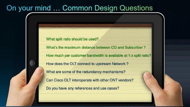 Line Optical Questions : Passive optical networks pon customer case study design implemenu