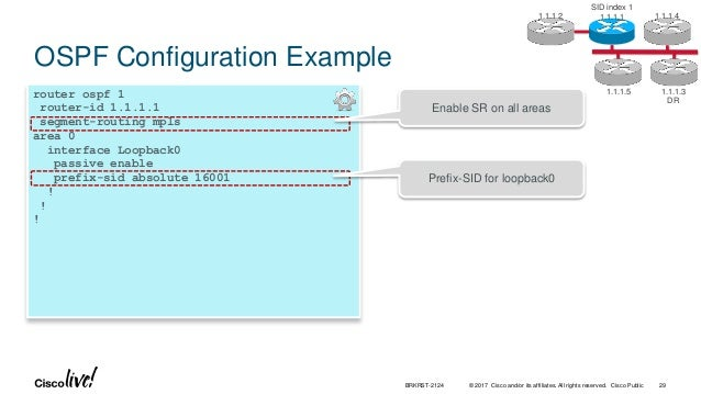 Cisco Live! :: Introduction to Segment Routing :: BRKRST