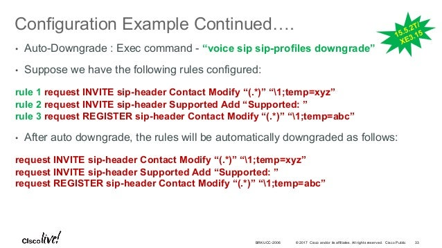 Cisco Live! :: Deploying SIP Trunks with Cisco Unified Border Element…