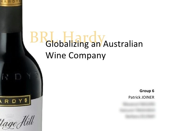 harvard brl hardy globalizing an australian wine company Case study brl hardy globalizing an australian wine company 4 bartlett and from ldr 422 at thomas edison state.