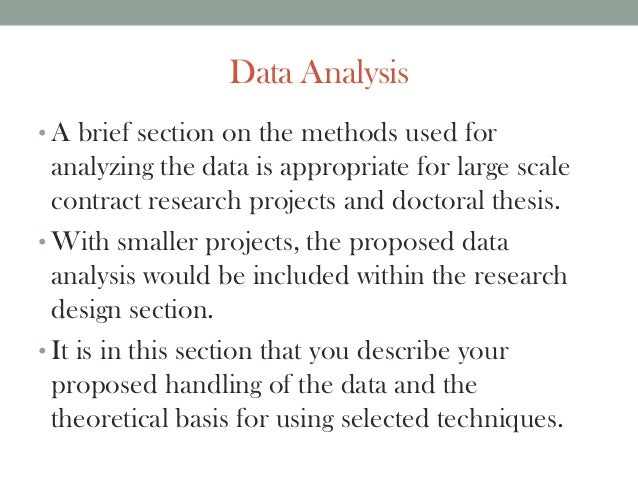 data test around thesis proposal