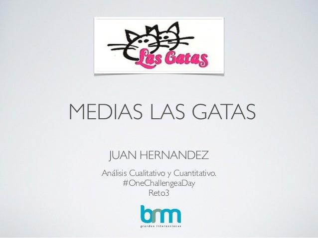 MEDIAS LAS GATAS JUAN HERNANDEZ Análisis Cualitativo y Cuantitativo.  #OneChallengeaDay   Reto3