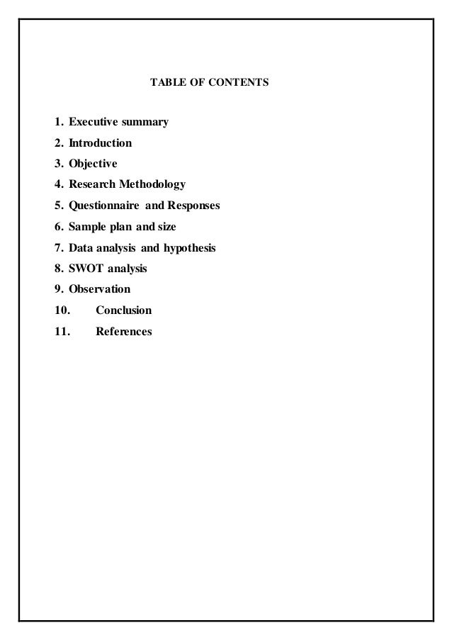 Research report example – Research Report Sample