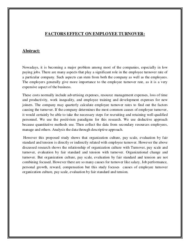 employee turnover literature review