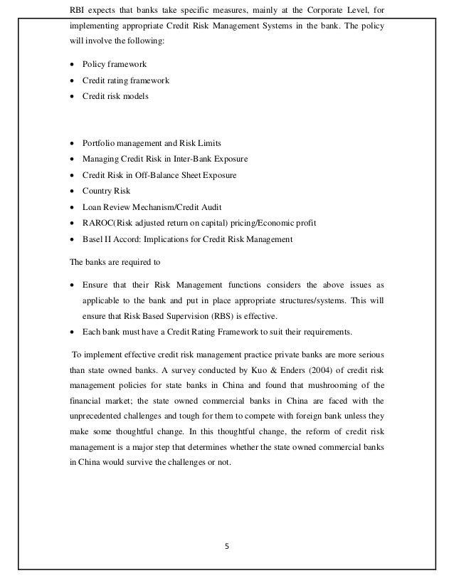essay on banking risk and management