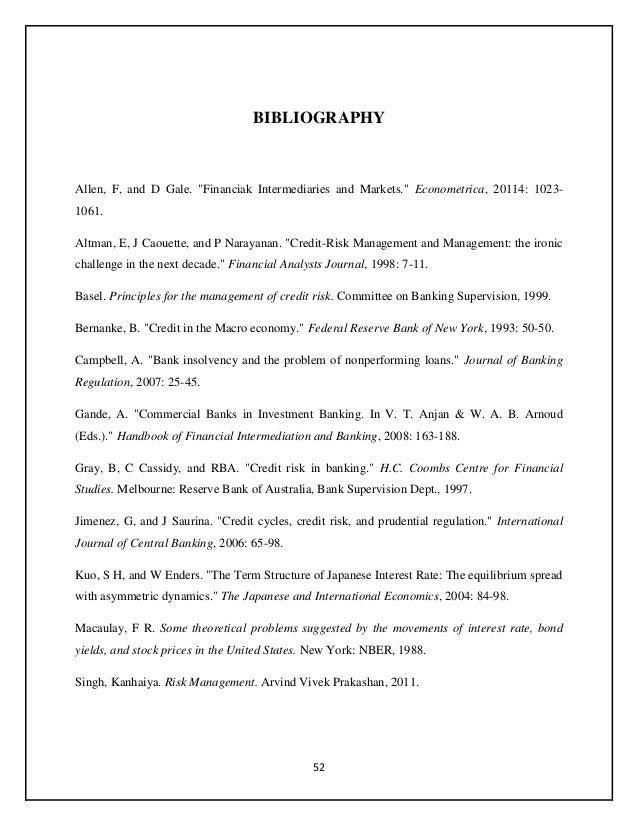 Study On Credit Risk Management Of SBI Cochi - Bank risk manager cover letter